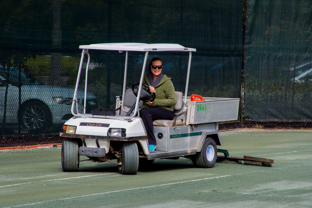 Court repair after high winds-5886
